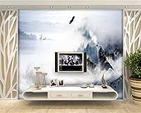 HGFHGD 3d壁紙現代テレビ背景壁オオカミトーテム雪山エルク家の装飾壁画壁ステッカー壁アート装飾