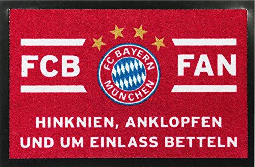 FC Bayern Fussmatte rot weiß