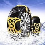 wenxin Neumático Nieve Chains Cadenas 6PCS / Set Vagones Nieve Neumático Nieve Cadenas Tracción por Cable Barro Neumáticos Cadena For Neumáticos Ancho 155-285mm, Antideslizantes Cadenas Coches