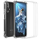 ivoler Case for Huawei Nova 5T / Honor 20 + 3 Pack Tempered