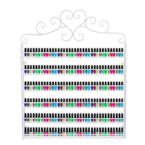 Organizador metálico para lacas de uñas, aceites y barras de labios, color negro
