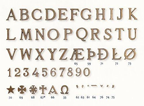 Grabschmuck-aus-Bronze Messingbuchstaben/Grabschrift/Schriftzüge/Messing/Schrift/Grabstein/Urnenschrift