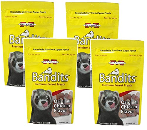 Marshall Bandits Ferret Treat, 3-Ounce, Chicken (Pack of 4)