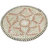 Ann Lee Design Seagrass Woven Fruit Basket (D 13.75', Red Star)