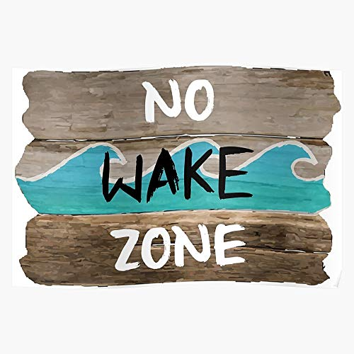 ARCHERS Sea Caribbean Wave Wake Sleep Water Bed Ocean The Best and Style Home Decor Wall Art Print Poster with only Size 16x24 inch