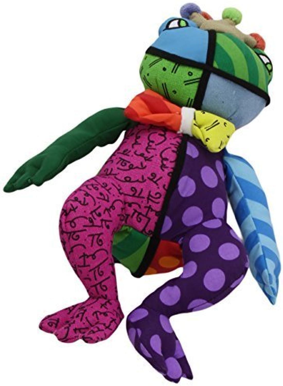 Romero Britto Miniature Frederic the Frog Pop Art Stuffed Animal Plush by Romero Britto