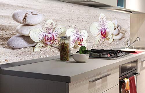 DIMEX LINE Küchenrückwand Folie selbstklebend Zen Garten | Klebefolie - Dekofolie - Spritzschutz für Küche | Premium QUALITÄT - Made in EU | 180 cm x 60 cm