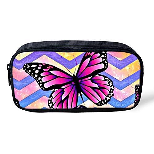 Colorido patrón de mariposa Kindergarten bebé escuela lápiz caso bolsa