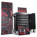 Werkstattwagen 1067 Big Edition | 6 Schubladen befüllt mit Werkzeug in Schaumstoffeinlegern | Werkzeugwagen mit zusätzlichem Seitenfach