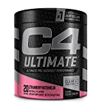 C4 Ultimate Pre Workout Powder Watermelon - Sugar Free Preworkout Energy Supplement for Men & Women - 300mg Caffeine + 3.2g Beta Alanine + 2 Patented Creatines - 20 Servings