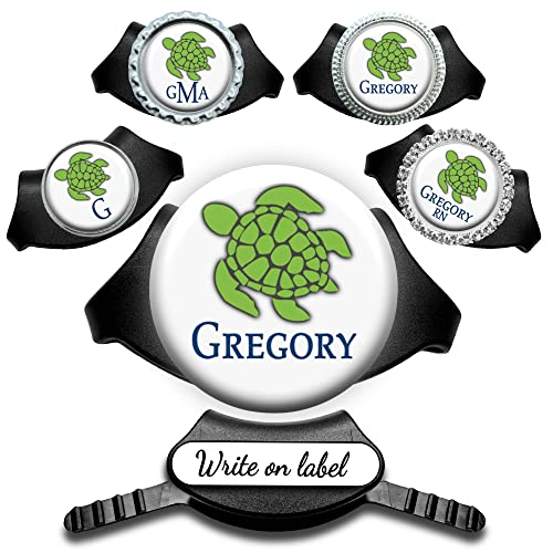 Personalized Green Sea Turtle Yoke Stethoscope ID Name Tag -...