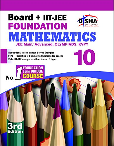 New Pattern Class 10 Board Iit Jee Foundation Mathematics 3rd Edition