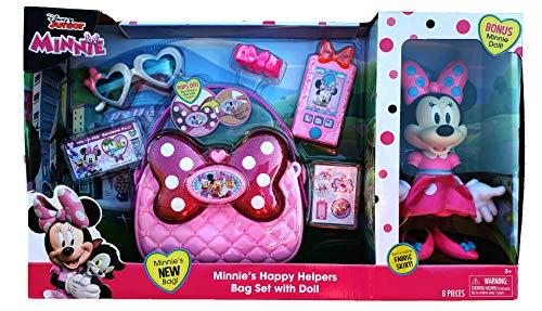 Disney Junior Minnie's Happy Helpers Bag Set with Bonus Minnie Doll