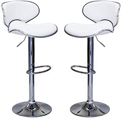 Black Halter PU Covered Barstool PU Metal Frame Plywood Foam Feature Non K//D Chrome Footrest