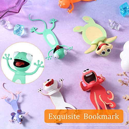 14 Pieces Wacky Ouch Bookmarks Animal Bookmarks 3D Bookmark for Kids Cartoon Christmas Bookmark Novelty Funny Stationery Birthday Party Favors for Student Teens Boys Girls Help with Reading Photo #7