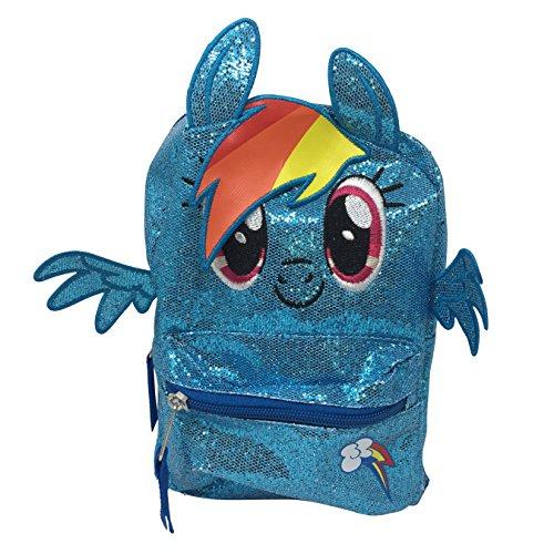 Girls Mini Rainbow Dash My Little Pony 9 Inch Backpack
