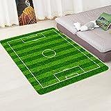 Romsion Home Mini-Fußballfeld-Teppich, rutschfest, für Zuhause, Wohnzimmer Football Field 2, 80cmx120cm