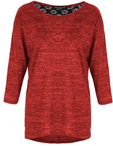 Emma & Giovanni - oversized T-shirt/blouse met kant, 3/4 mouwen voor alle seizoenen, losse pasvorm - dames