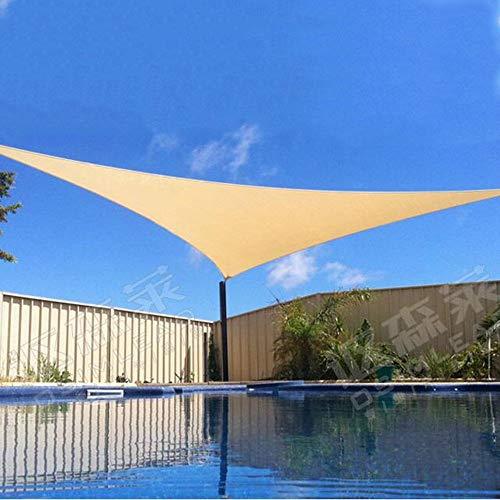 YS Paño de Protección Solar Multiusos para Exteriores 92-95% Toldo de Vela para el Sol Triángulo Derecho Perfecto para Patio Exterior, Jardín 3M; 4M; 5M,Caqui
