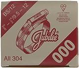 Jubilee 000SS - Agarradera de manguera de acero inoxidable (9,5-12mm)