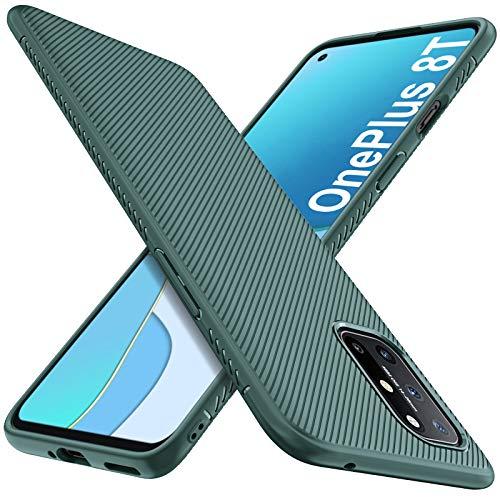 iBetter per Oneplus 8T Cover, Custodia per Oneplus 8T Protettiva Antiurto,Morbido Slim per Oneplus 8T Smartphone.(Verde)