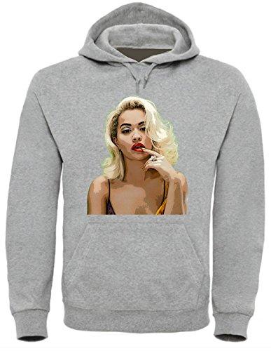 Rita Ora Funny Mens & Ladies / Herren & Damen Unisex Hooded Pullover (M