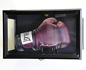 Clear Viewing Boxing Glove Display Case Cabinet Wall Rack/Free Standing  Black Finish