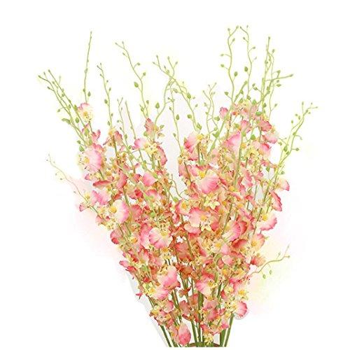TOWAKM Orquídea de Oncidio de Simulación Flores de Phalaenopsis para Boda Decoración Artificial, Pk, 2.04cm*114cm*8cm