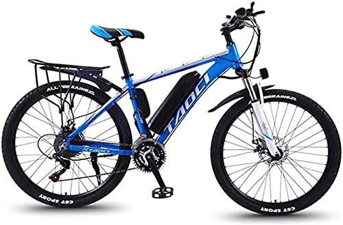 CASTOR Bicicleta electrica Bicicletas eléctricas rápidas para Adultos Bicicletas de aleación de magnesio Terreno, 350W 13Ah Batería de Litio extraíble Batería de montaña para Hombres