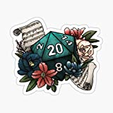 Bard Class D20 - Tabletop Gaming Dice Sticker - Sticker Graphic - Auto, Wall, Laptop, Cell, Truck Sticker for Windows, Cars, Trucks