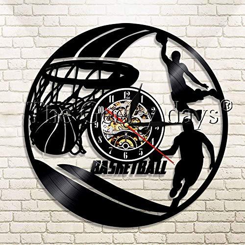 GXYtable cloth # 24 NBA Kobe Bean Bryant Giocando a Basket Orologio da Parete in Vinile Slam Dunk Master Basket Dunk Giocatore Sportivo Giocatore di Pallacanestro Regalo