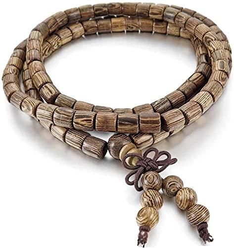 Tachibana Perlas de oración Islam Feng Shui Bead Pulsera Pulsera de Madera Pulsera marrón Buda Beads Chinese Knot...