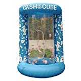 Inflatable Cash Cube Booth for Advertisment, Inflatable Money Grab Machine for Event (No Blower Included) (Blue)