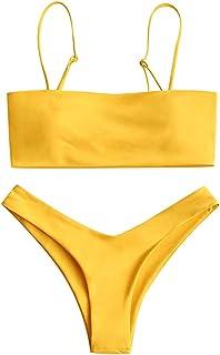 ZAFUL - Bikini de Corte Alto para Mujer