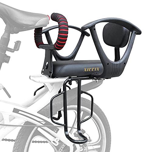 XIEEIX Fahrradkindersitz hinten, Fahrradkindersitz mit Rückenlehne, Armlehne, Fußpedale und weitenverstellbarer Fahrradrücksitz, geeignet für Kinder im Alter von 2 bis 8 Jahren