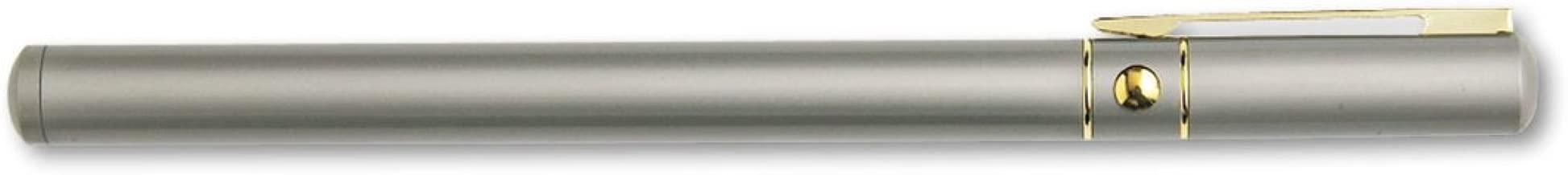 Quartet MP1350Q Executive Laser Pointer, Class 3A, Projects 500 yds, Matte Silver