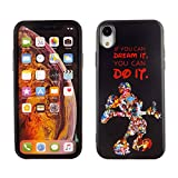iPhone XR Case Mickey Mouse Quotes, IMAGITOUCH Anti-Scratch Shock Proof Clear Case Soft Touch Slim Fit Flexible TPU Case Bumper Cover for iPhone XR You Can Do it