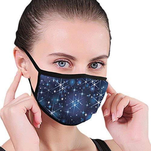 Starlight Shines Blue Star Bright Sky Männer Frauen Atmungsaktive, Bequeme Gesichtsschutzhülle mit elastischem Gurt für die persönliche Gesundheit Verschiedene Anwendungen