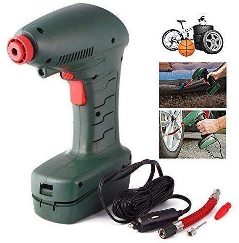 Swarim Portable High Pressure Car Air Compressor Pump with Built-in Led Light for Bicycle, Football, Cycle, Bicycle, Tubeless Tyre's Inflator