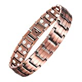 Jeracol Copper Bracelets for Arthritis Men Magnetic Wristbands Theraputic Energy Bracelet for Pain Relief with...