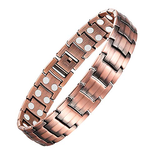 Jeracol Copper Bracelets for Arthritis Men Magnetic Wristbands Theraputic...