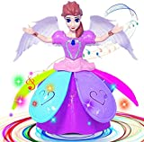 Chavda Fairy Princess Dolls Toys Dancing Rotating Singing Musical Toy for Girls Battery Operated Bump-N-Go with Colourful LED Lights