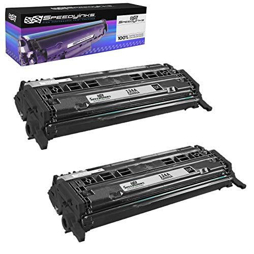 Speedy Inks Remanufactured Toner Cartridge Replacement for HP 124A ( Black , 2-Pack )