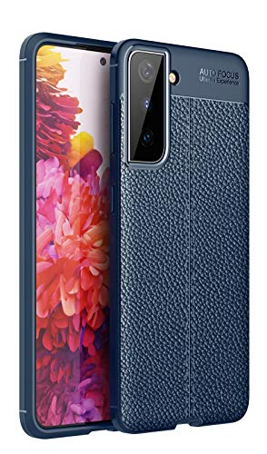 ZHENGNING Case Cover, per Custodia Samsung Galaxy S21 Plus, per Samsung Galaxy S30 Plus Case, Anti-Shock Shatter-resistentissimo Telefono Cellulare Caseleather Texture Case Protective (Color : Navy)