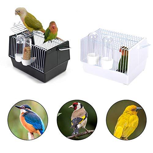 Youyababay Jaula para pájaros Jaula para pájaros Portátil Jaula para Loros Portador de Viaje para pájaros con Dos alimentadores para Piel de Tigre peonía Little Sun Little Starling