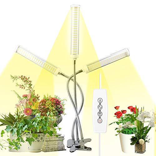 Lampada per Piante 150W 315 LEDs, Full Spectrum Grow Light Lampada Piante Coltivazione Lampada di Crescita con Timer Automatico 3H/6H/12H e 5 Livelli di Luminosità per Pianti Frutta Verdure Fiore