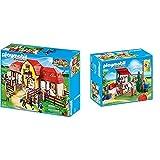 PLAYMOBIL Country 5221 Großer Reiterhof mit Paddocks, Ab 5 Jahren & 6929 Bricks, Mehrfarbig