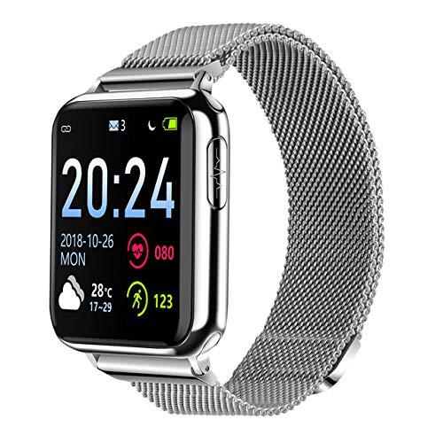 V5 Bluetooth EKG PPG SpG SpO2 HRV Fitness Herren Gesundheit Elektronische Blutdruckmessung Smart Herzfrequenzmesser Business Silber