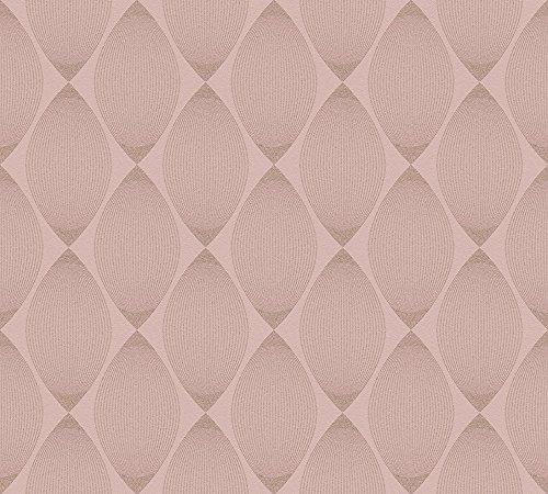 Esprit Vliestapete mit Glitter Minimalistic Authenticity Tapete geometrisch grafisch 10,05 m x 0,53 m metallic rosa rot Made in Germany 357143 35714-3