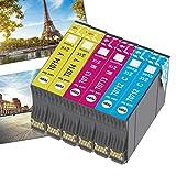 OGOUGUAN T0715 - Cartucho de tinta compatible con Epson T0711 T0712 T0713 T0714 con Epson Stylus SX200 SX215 SX218 SX400 SX415 SX510W SX515W DX4450 DX5050 DX6000 DX8450 (2 cian, 2 magenta, 2 amarillo)